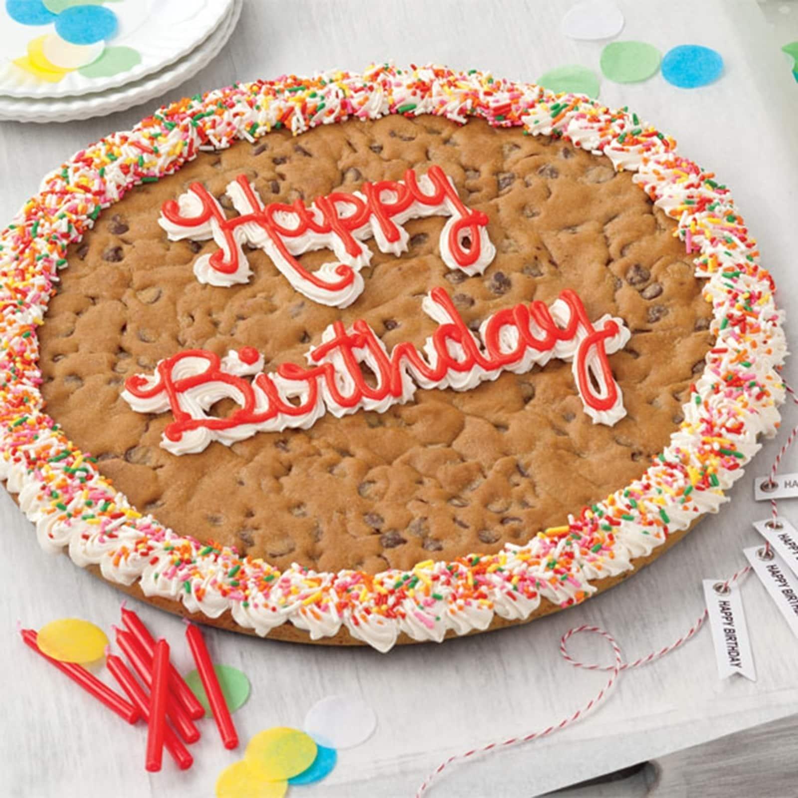 Stupendous Shop Mrs Fields Happy Birthday Chocolate Chip Cookie Cake Funny Birthday Cards Online Alyptdamsfinfo