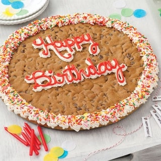 Link to Mrs. Fields 'Happy Birthday' Chocolate Chip Cookie Cake Similar Items in Gourmet Food Baskets