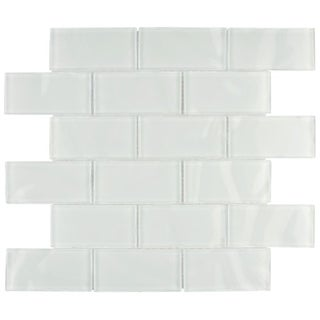 somertile reflections ripple super white glass mosaic tiles pack of 10