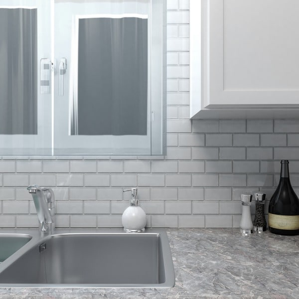 Somertile Reflections Ripple Super White Glass Mosaic