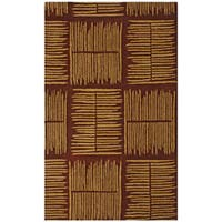 Hand-tufted Thatch Brown Wool Rug (5' x 8') - 5' x 8'