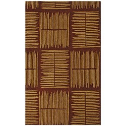 Hand-tufted Thatch Brown Wool Rug - 8' x 11' - Thumbnail 0