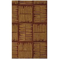 Hand-tufted Thatch Brown Wool Rug (8' x 11') - 8' x 11'