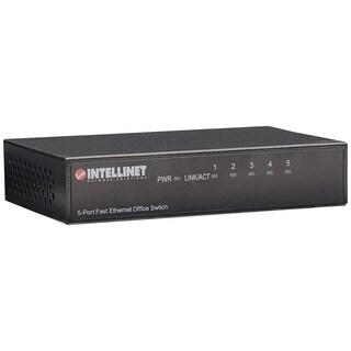 Intellinet 5-Port 10/100 Desktop Switch, Metal Housing