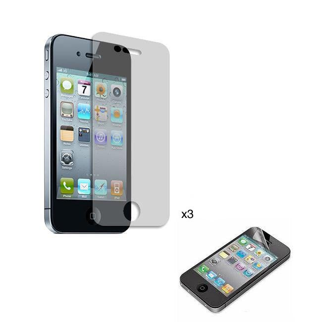 Premium iPhone 4/ 4S Clear Screen Protector (Pack of 3) - Thumbnail 0