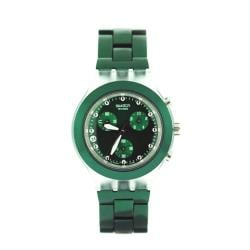 Swatch Women's Green Aluminum Watch