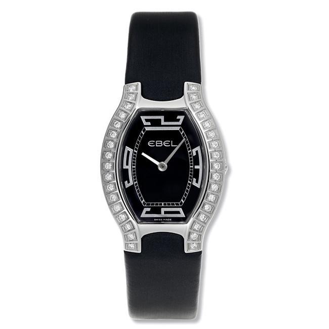 Ebel Women's 'Beluga Tonneau' Stainless Steel and Satin Diamond Watch