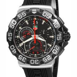 Tag Heuer Men's CAH1010.FT6026 'Formula 1 Grande' Chronograph Black Rubber Watch