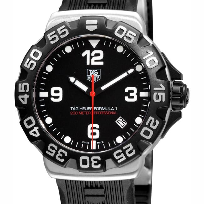Tag Heuer Men's 'Formula 1' Black Rubber Strap Chronograph Watch
