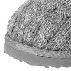 Brumby Women's Cable-knit Sheepskin-lined Slippers - Thumbnail 2