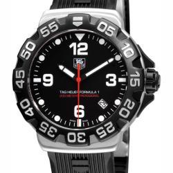 Tag Heuer Men's 'Formula 1' Black Rubber Strap Chronograph Watch - Thumbnail 0