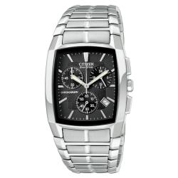 Citizen Men's Eco-Drive Chronograph Calendar Stainless Steel Watch - Thumbnail 1