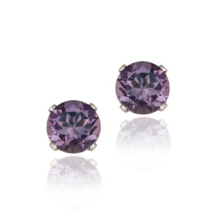 Glitzy Rocks Sterling Silver 1 1/2ct TGW Amethyst Stud Earrings