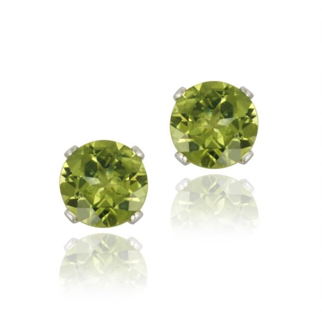 Glitzy Rocks Sterling Silver 1 4/5ct TGW Peridot Stud Earrings
