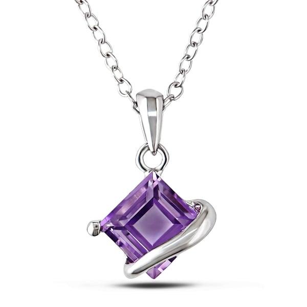 Miadora Sterling Silver Amethyst Fashion Necklace