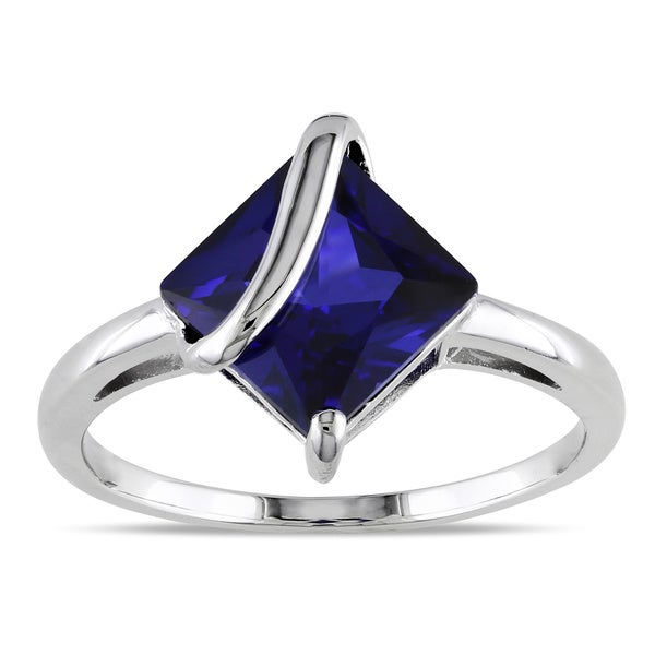 M by Miadora Sterling Silver Created Sapphire Fashion Ring