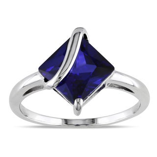 Miadora Sterling Silver Created Sapphire Fashion Ring|https://ak1.ostkcdn.com/images/products/5800777/Miadora-Sterling-Silver-Created-Sapphire-Fashion-Ring-P13521222.jpg?_ostk_perf_=percv&impolicy=medium