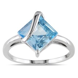Miadora Sterling Silver Sky Blue Topaz Fashion Ring