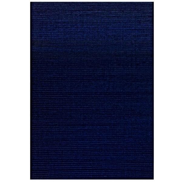 Hand-tufted Pulse Blue Wool Rug - 5' x 8'