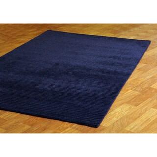 Hand-tufted Pulse Blue Wool Rug (8' x 10')