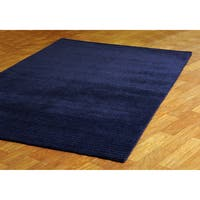 Hand-tufted Pulse Blue Wool Rug (8' x 10') - 8' x 10'