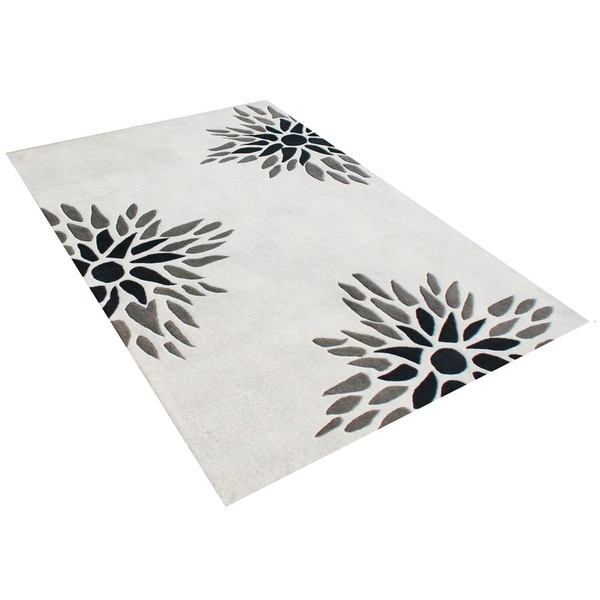 Alliyah Handmade Off-White New Zealand Blend Wool Rug - 8' x 10'