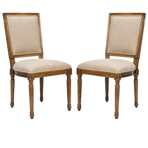 Safavieh Old World Dining Preston Carved Oak Dining Chairs (Set of 2)