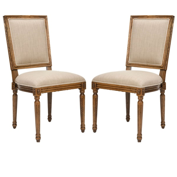 Safavieh Old World Dining Preston Carved Oak Side Chairs (Set of 2)