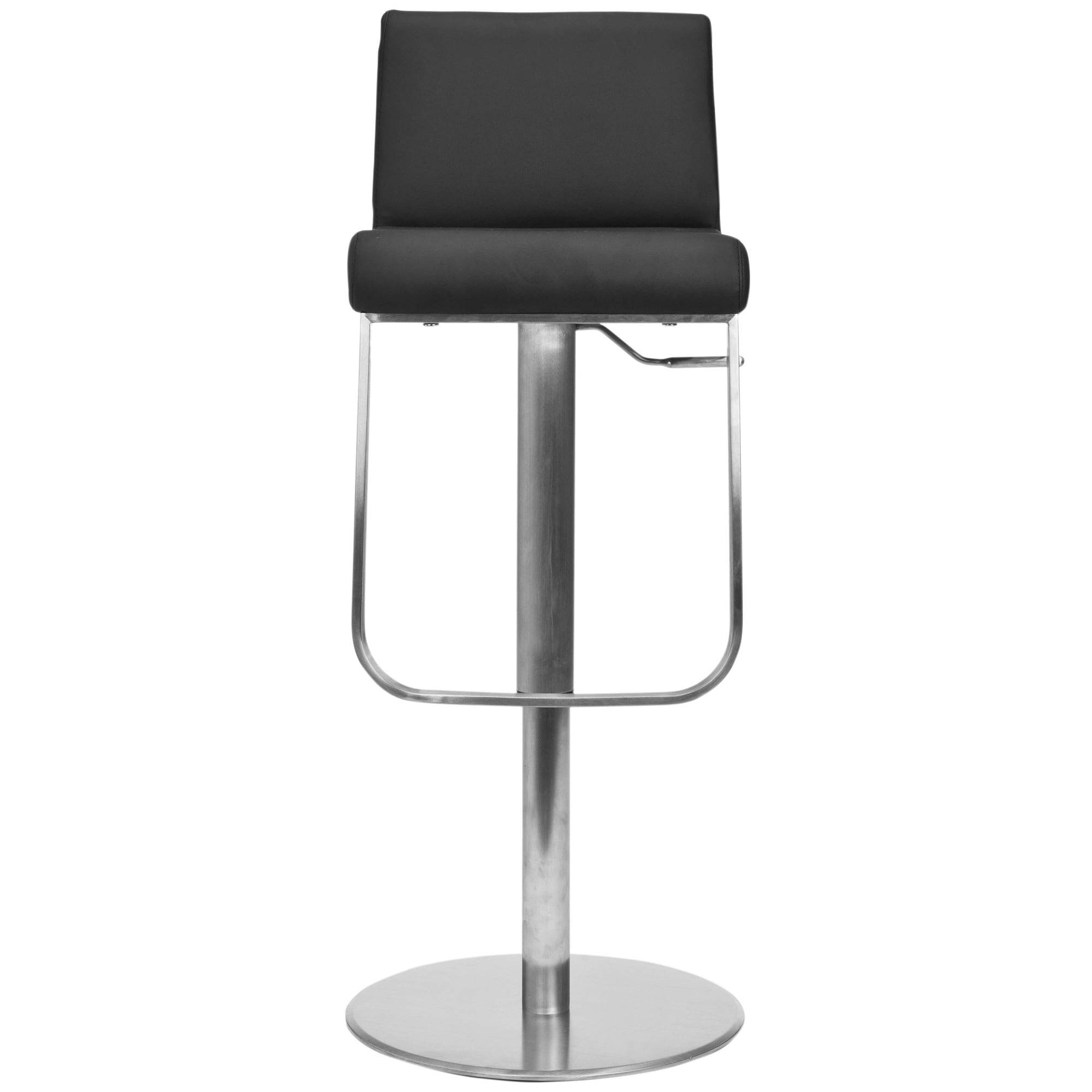 Fine Safavieh Stanley Black Leather Adjustable 24 33 Inch Swivel Modern Bar Stool 19 3 X 16 5 X 32 7 Squirreltailoven Fun Painted Chair Ideas Images Squirreltailovenorg