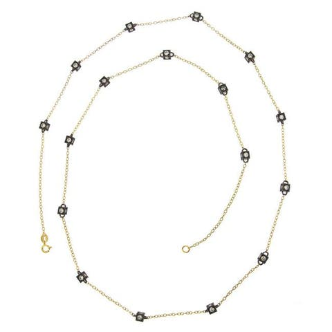 Icz Stonez 18k Gold over Silver Cubic Zirconia 24-inch By-the-yard Necklace