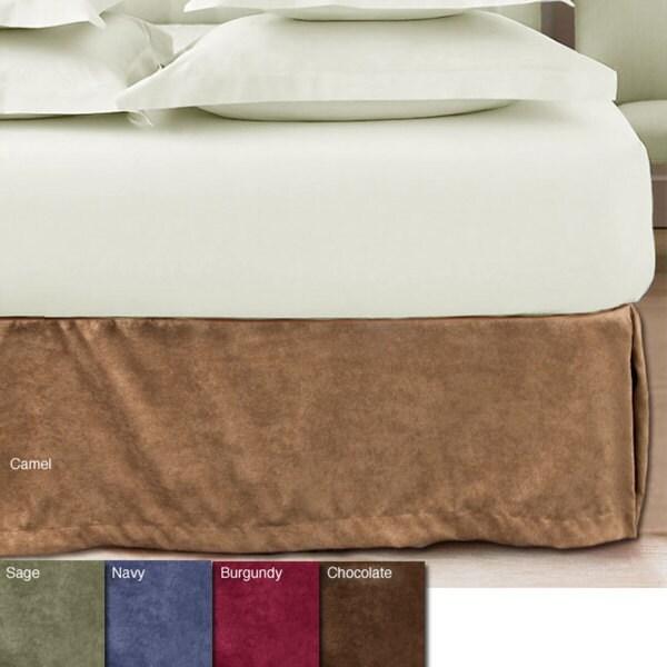 Microsuede 15-inch Drop Bedskirt