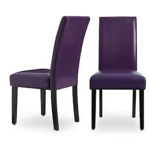 Villa Faux Leather Dining Chairs Set Of 2