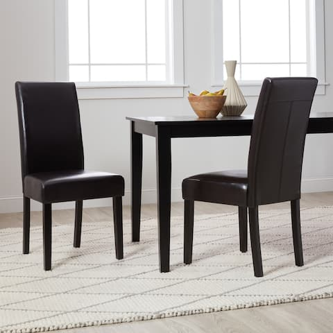 Monsoon Villa Faux Leather Parson Dining Chairs (Set of 2)