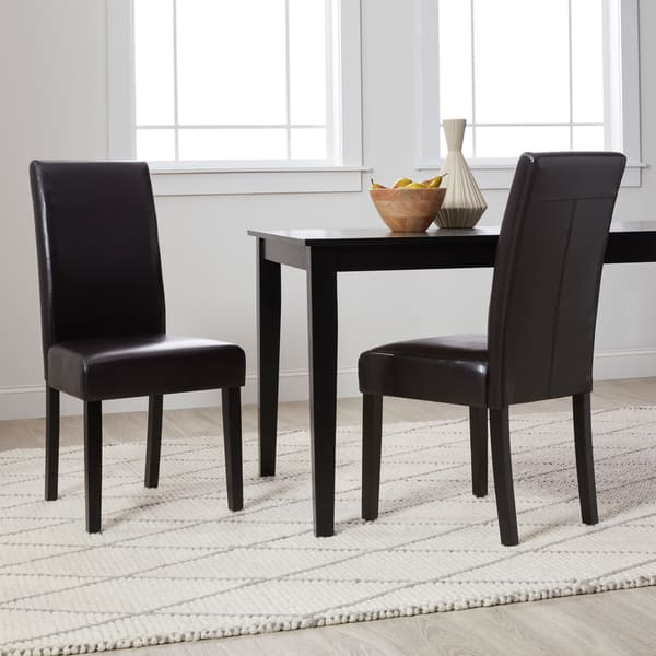 Villa Faux Leather Dining Chairs Set Of 2 On