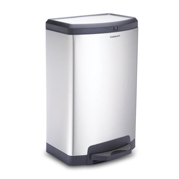 Shop Cuisinart Stainless Steel 40 Liter 105 Gallon Trash Can