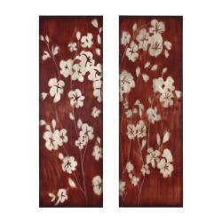 Wood Cherry Blossom 2-piece Wall Art