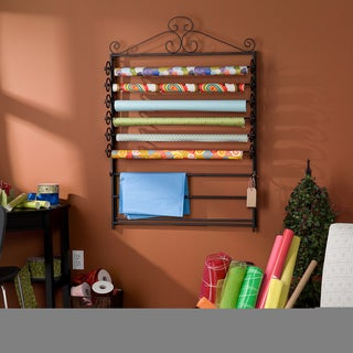 Harper Blvd Leal Black Wrapping Paper & Craft Storage Rack
