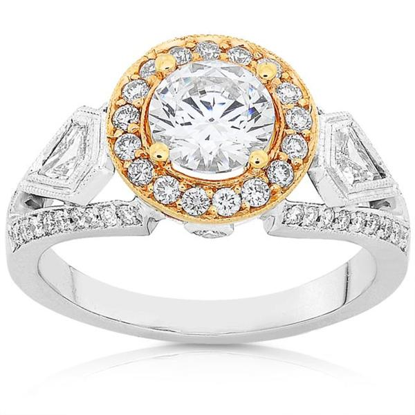 Annello by Kobelli 18k Two-tone Gold 1 3/4ct TDW Diamond Ring (F-G, I1-I2)