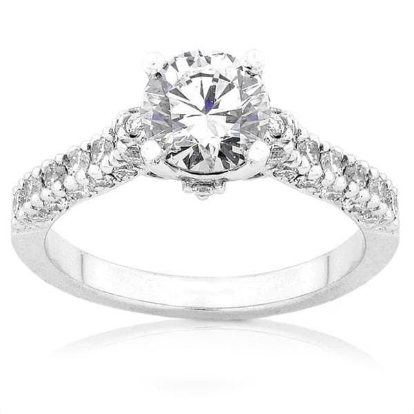 Annello by Kobelli 18k White Gold 1 1/6ct TDW Diamond Engagement Ring (F-G, I1-I2)