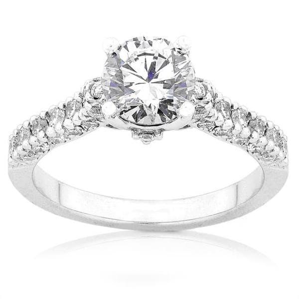 Annello by Kobelli 18k White Gold 1 1/6ct TDW Diamond Engagement Ring (F-G, I1-I2)