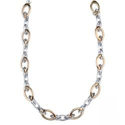 Stainless Steel Two-Tone 24-inch Figaro Necklace