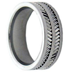Men's Tungsten and Ceramic Comfort-fit Band (8 mm) - Thumbnail 1