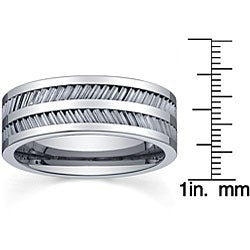 Men's Tungsten and Ceramic Comfort-fit Band (8 mm) - Thumbnail 2
