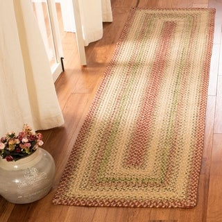 "Safavieh Hand-woven Indoor/Outdoor Reversible Multicolor Braided Rug - 2'3"" x 12'"