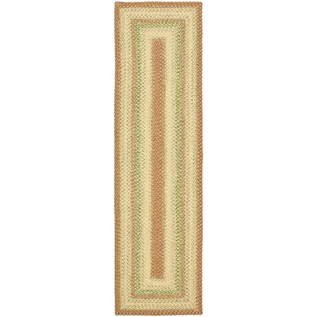 Safavieh Hand-woven Indoor/Outdoor Reversible Multicolor Braided Runner (2'3 x 8')