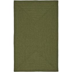 Safavieh Hand-woven Country Living Reversible Green Braided Rug (4' x 6')
