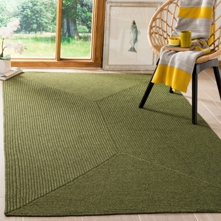 Safavieh Hand-woven Country Living Reversible Green Braided Rug (5' x 8')