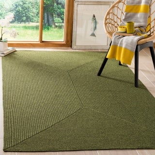 Safavieh Hand-woven Country Living Reversible Green Braided Rug (8' x 10') - 8' x 10'