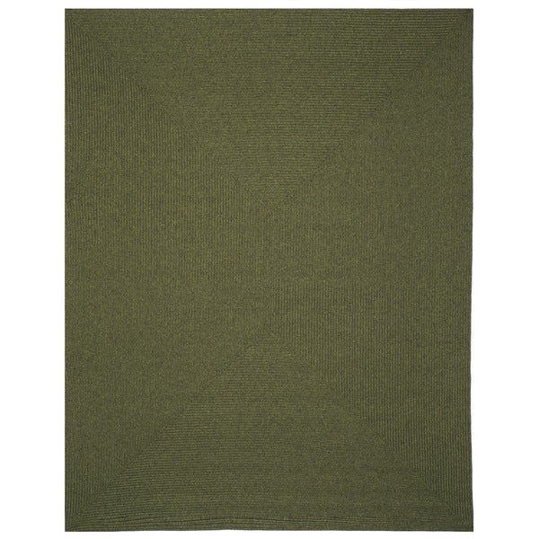 Safavieh Hand-woven Country Living Reversible Green Braided Rug (8' x 10')