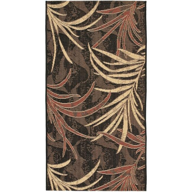 Safavieh Courtyard Black/ Cream Indoor/ Outdoor Rug (2'7 x 5')
